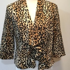 Dress Barn Cheetah Open Jacket Size Small